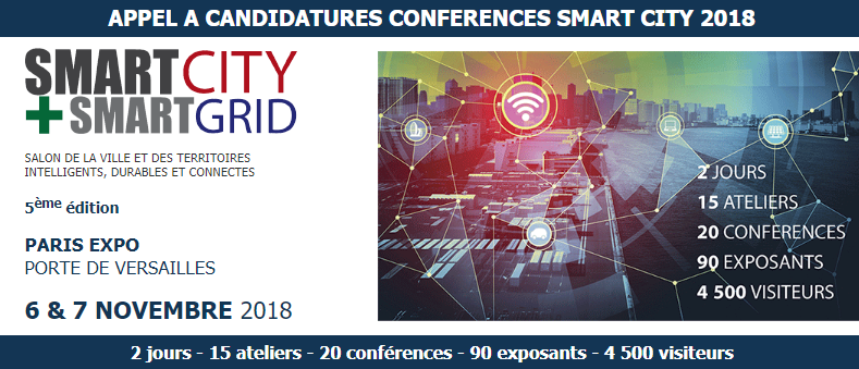 Congrès Smart City 2018 @ Paris Expo | Paris | Île-de-France | France