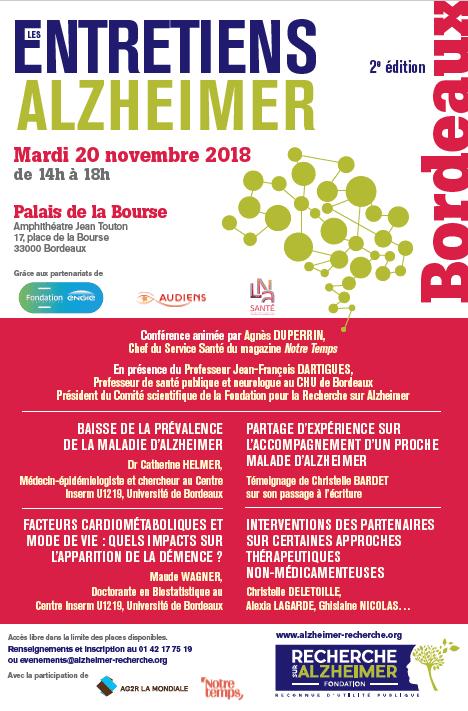 2ème édition des Entretiens Alzheimer-Bordeaux @ Palais de la Bourse - Amphithéâtre Jean Touton | Bordeaux | Nouvelle-Aquitaine | France