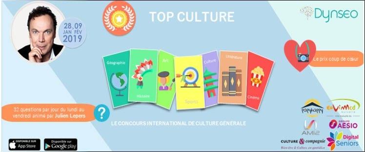 La 6ème édition de Top Culture, le grand concours de culture G dédié aux 60+, sera présentée par Julien Lepers