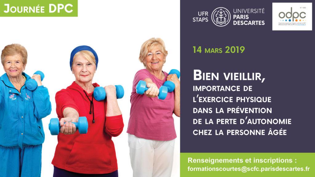 Fac médecine Paris Descartes Bien veillir, importance de l'exercice physique