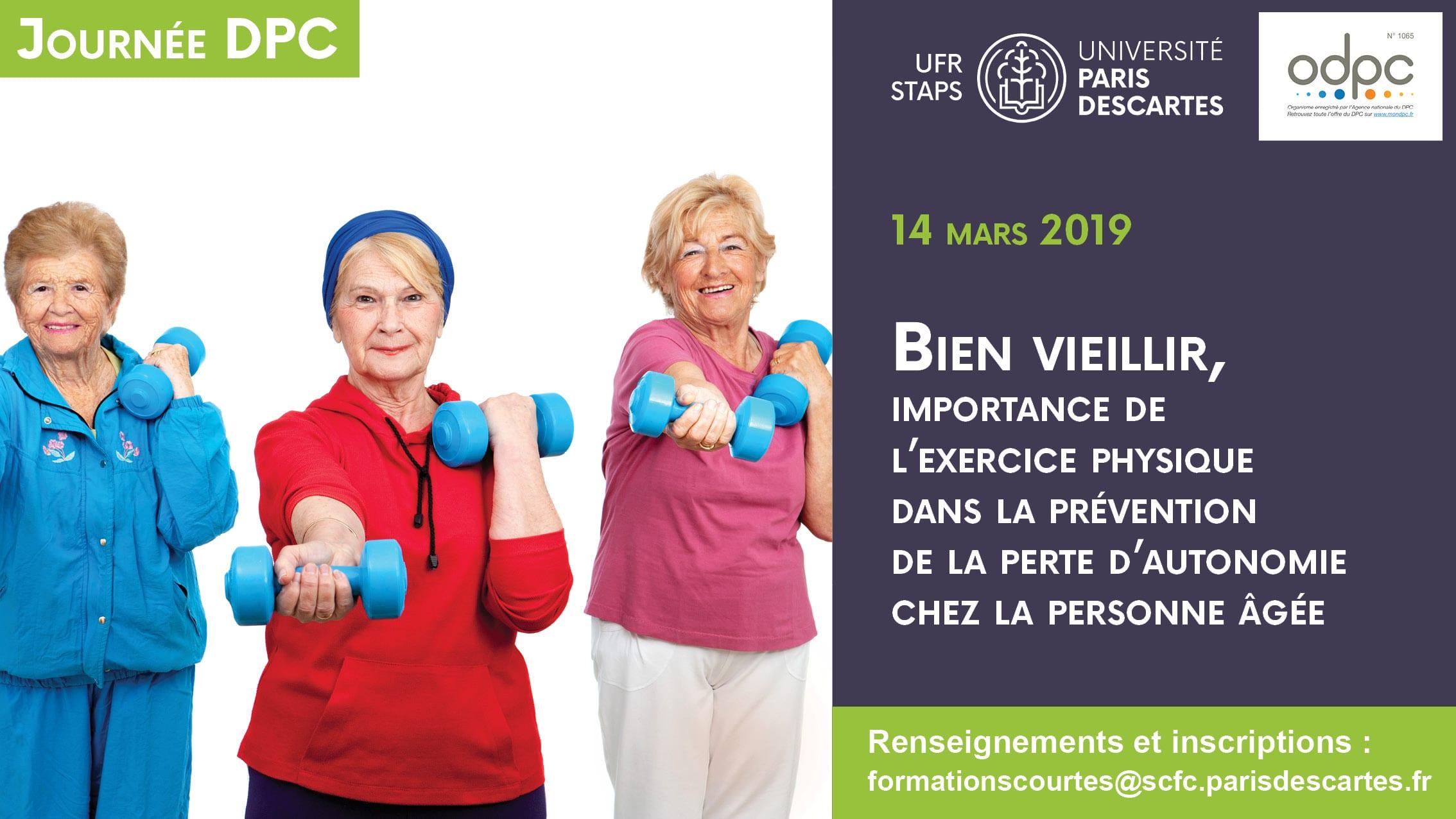 Séminaire bien-vieillir : importance de l'exercice physique dans la prévention de la perte d'autonomie chez la personne âgée @ UFR Staps