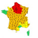 Carte Météo France vigilance