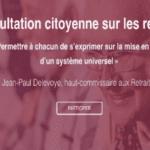 Consultation citoyenne sur les retraites : le Président de la République a lancé le 1er débat avec les Français ce 3 octobre à Rodez