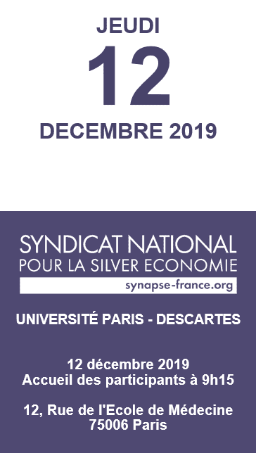 Journée Nationale de la Silver Economie 2019 @ Université Paris - Descartes