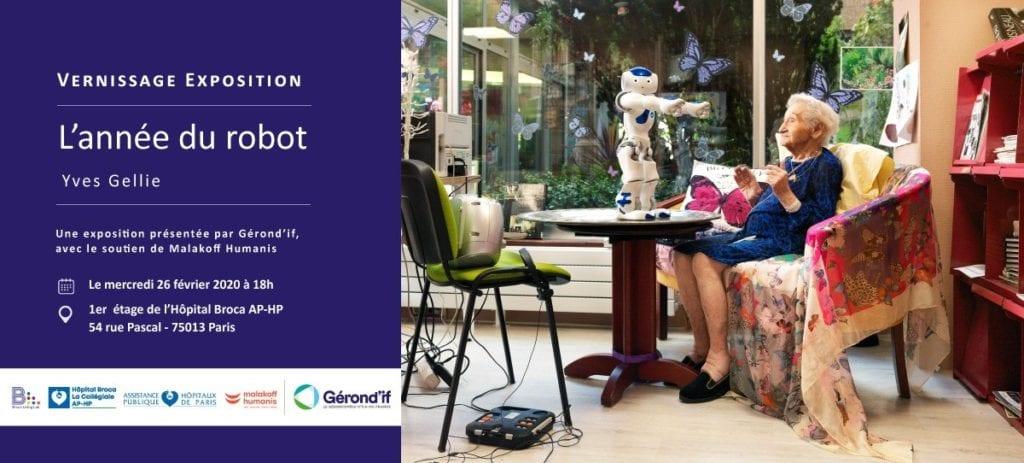 """Vernissage de l'exposition """"L'année du Robot"""" @ Hôpital Broca"""