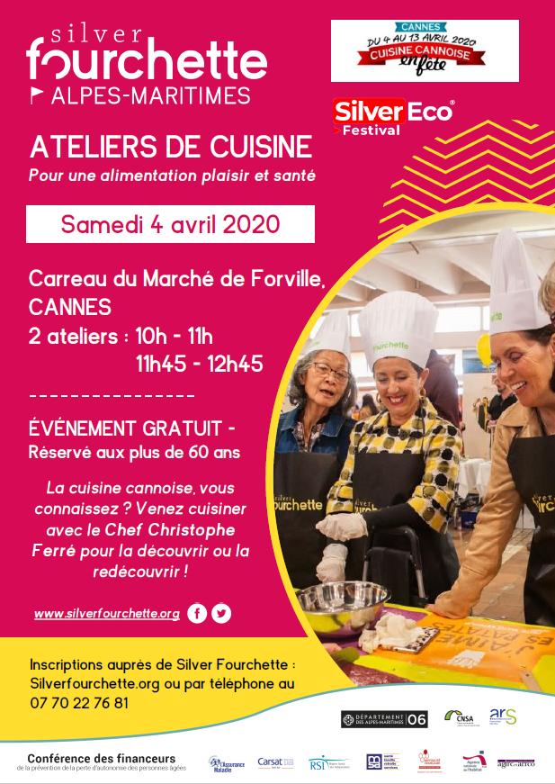 Ateliers de cuisine Silver Fourchette @ Carreau du Marché de Forville, Cannes