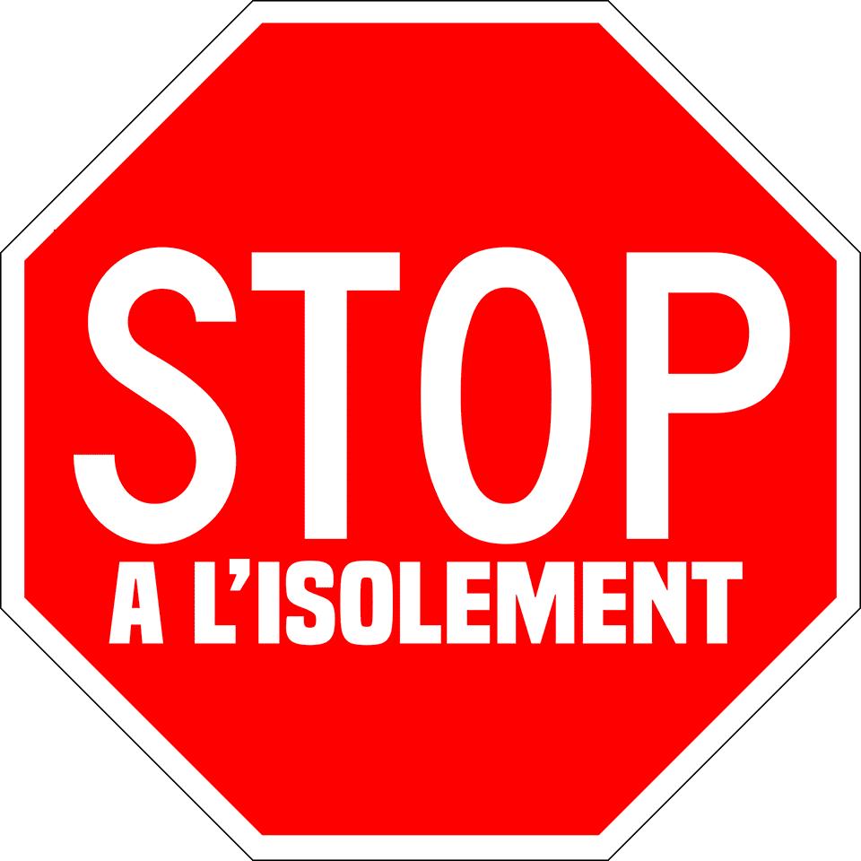 """logo page Facebook """"Stop à l'isolement"""""""