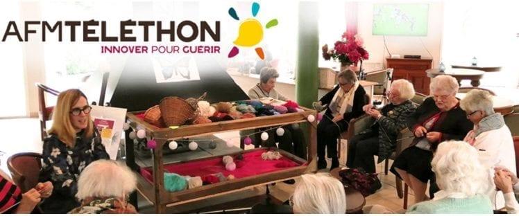 Les Résidentiels se mobilisent pour le Téléthon au travers du challenge «Le Tricothon»